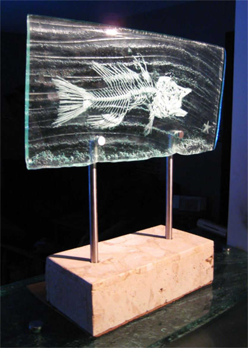 Glass Sculpture - Fish Bones