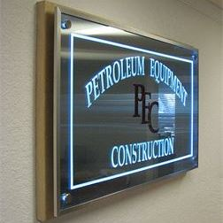 Glass Sign - Construction
