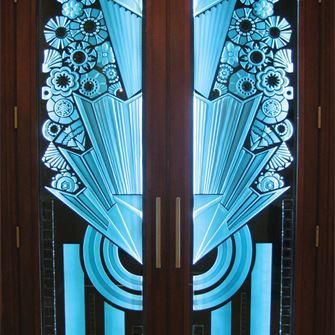 Double Entry Door - Art Deco