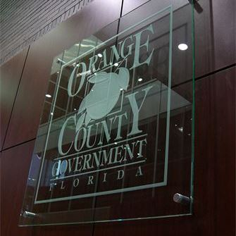 Glass Sign - Orange County, Clear